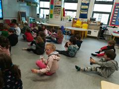 YOGA break in Senior Infants Ruth