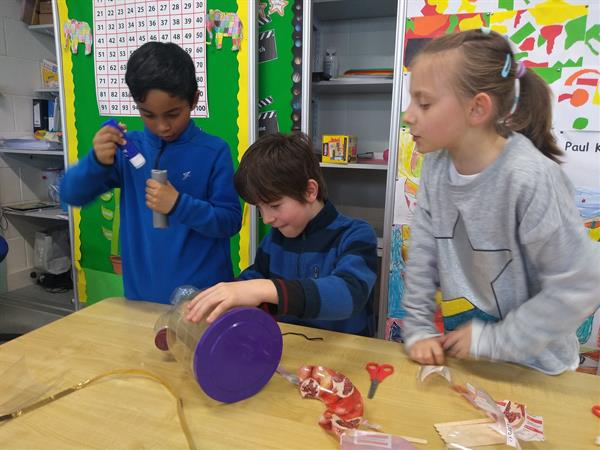 1st Class constructing boats to mark Engineers Week!