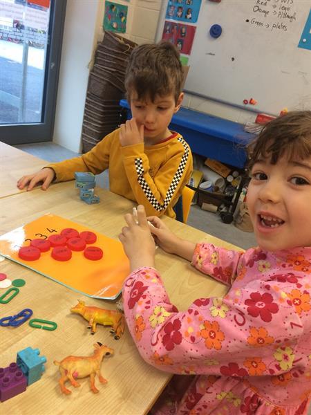 Junior Infants enjoying Ready Set Go Maths