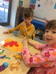 Junior Infants enjoying Ready Set Go Maths