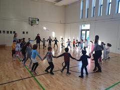 Senior Infants Claire ag damhsa ( dancing)!
