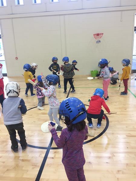 Junior infants love getting active